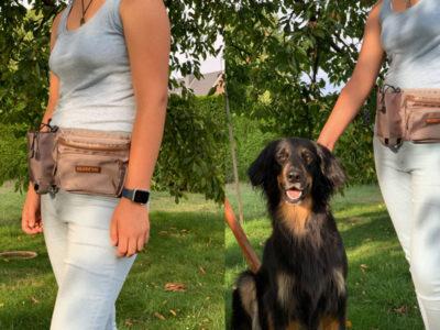 Güftgrürteltasche mit Trinkflaschenhalter für Hunde