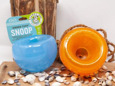 Interaktives Hundespielzeug Snoop Farbe blau und orange ohne Weichmacher
