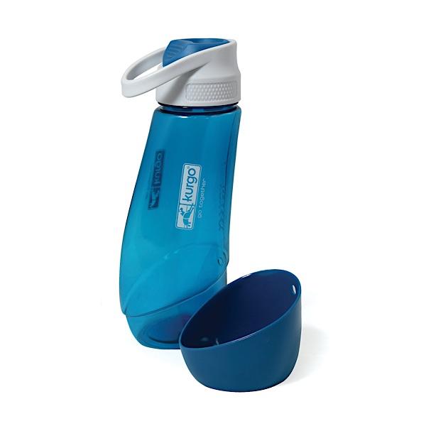 Wasserflasche Hund blau