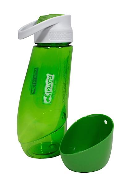 Wasserflasche für den Hund grün