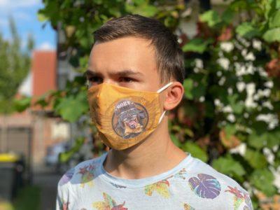 Mund und Nasenmaske mit Hovawart Motiv