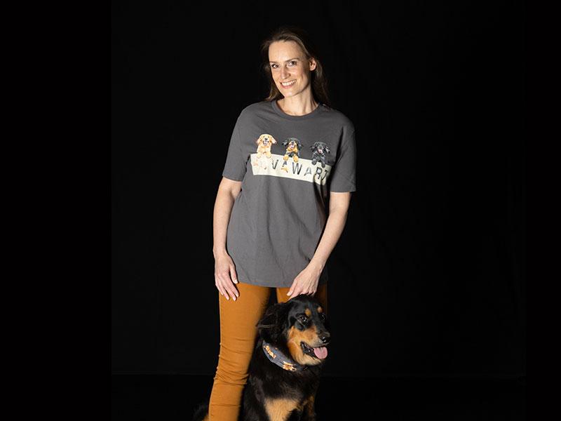 Hovawart T-Shirt mit Hund und Frau