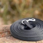 Gummierte 10 Meter lange Schleppleine schwarz