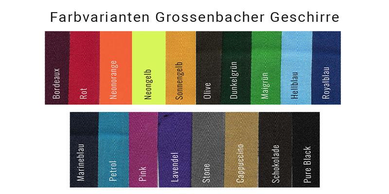 Farben bei Grossenbacher Geschirren