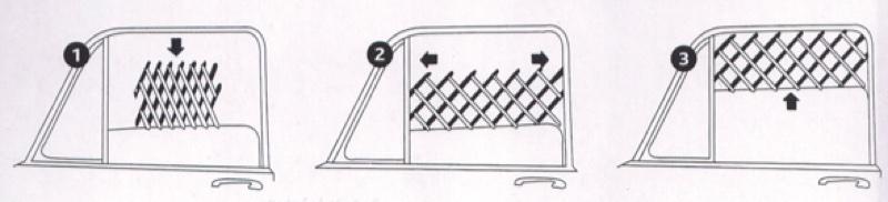 Anwendung Frischluftgitter fürs Auto